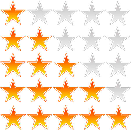 Star rating system illustration