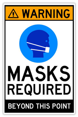 masks required illustration Фото со стока