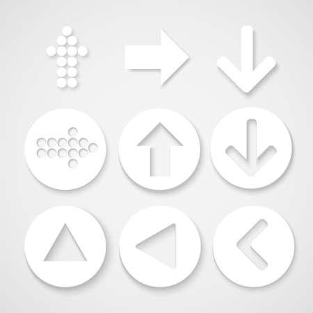 circle shape: Arrow sign icon set. Simple circle shape.