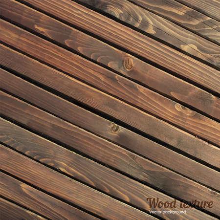 brown wood: Dark brown wood abstract texture. Vector Illustration