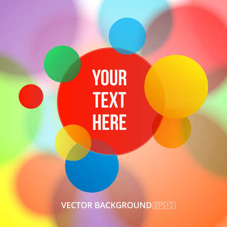 multiply: Bright multiply circles on a soft colorful blurry background. Vector image. Illustration