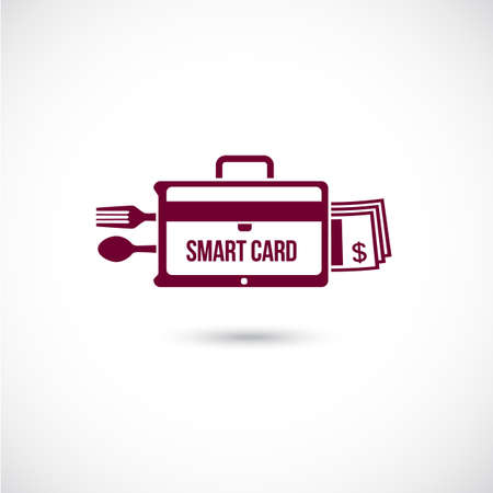 smart card: Smart credit card concept. Vector Illustration.