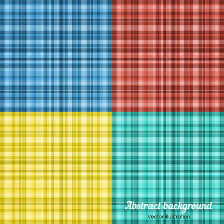 plaid pattern: Set of colorful Plaid Pattern. Vector Plaid Pattern