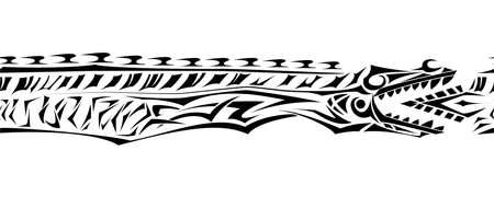 Jormungand Mythologic Snake Dragon Tattoo Bracelet Around Arm