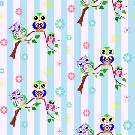 optimistic: Cute optimistic colorful owls brighten the day!