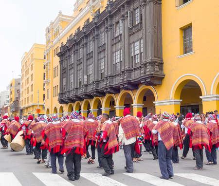 noun: Puno Carnival Lima  Peru Editorial
