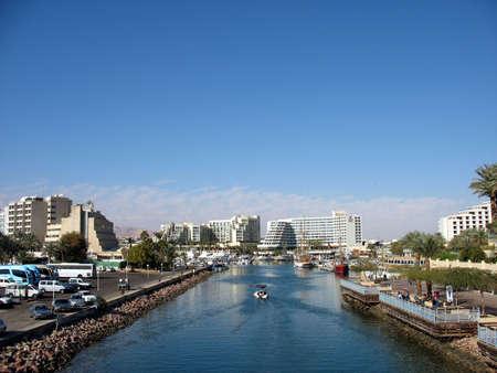 A lone boat in the Eilat marina. Eilat, Israel