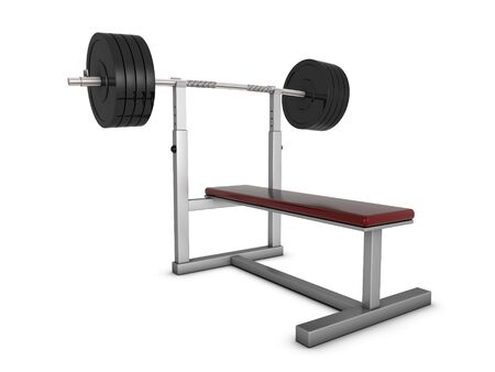 Bench with weight for training photo