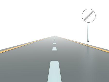 segmento: Segmento di strada diritta aperto con segno