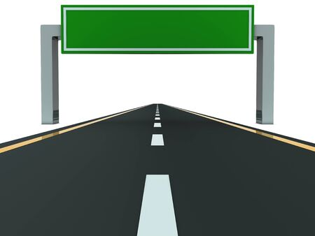 Segment of road with big blank green table Stock Photo - 8494755