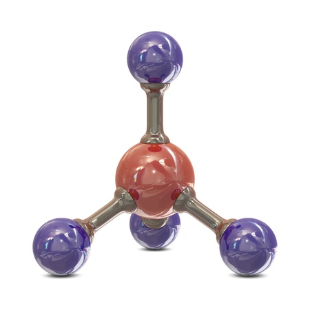 methane: CH4 molecule structure isolated on white background Stock Photo