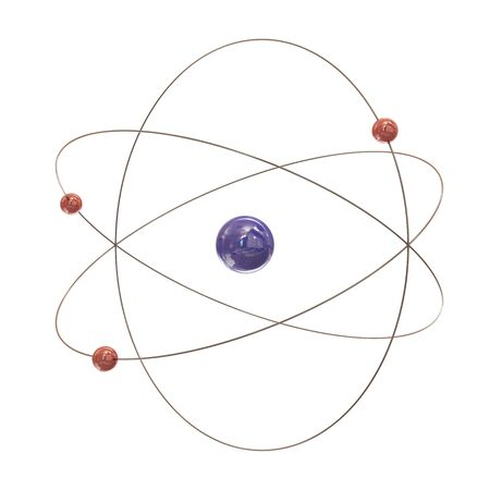 Electron paths around the nucleus on white background Stock Photo - 8910370