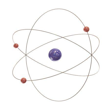 Electron paths around the nucleus on white background Stock Photo - 8910370