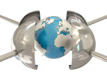 under pressure: Earth under pressure Stock Photo