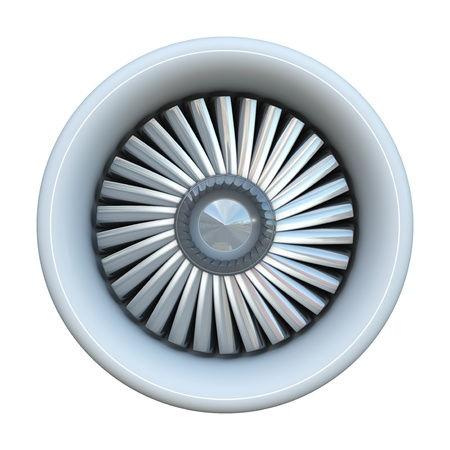 blade: Jet engine isolated on white background