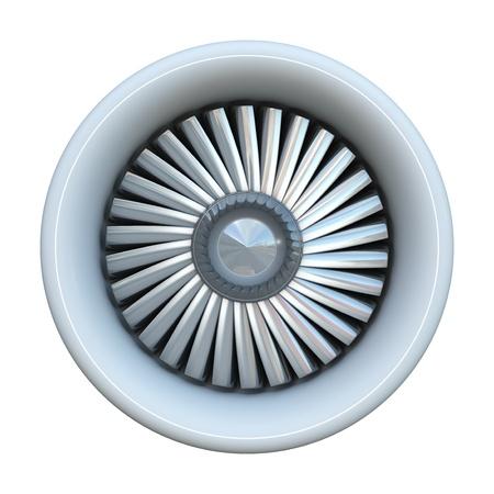 blades: Jet engine isolated on white background