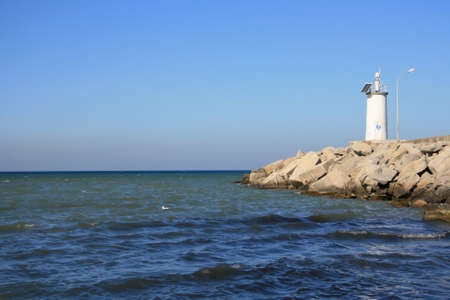 Lighthouse Side Of Blacksea Stock Photo
