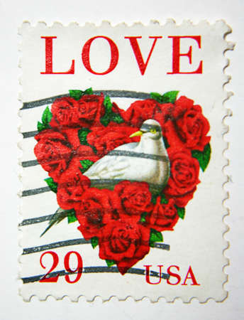 USA Postage Stamp About Love Stock Photo - 9894466