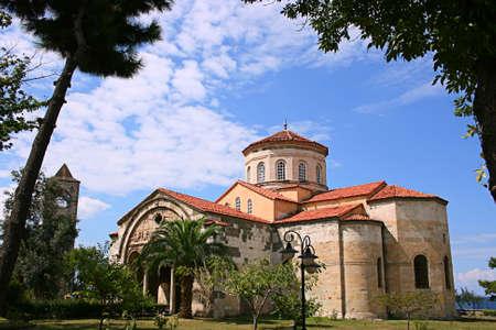 Trabzon,Turkey-August 20,2011:Ancient Orthodox church Hagia Sophia was restored.