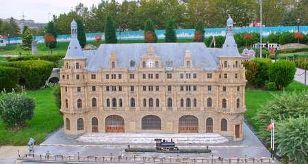 Istanbul,Turkey-October 01,2011:Miniature of Haydarpasha Train Station in Miniaturk Stock Photo - 10970479