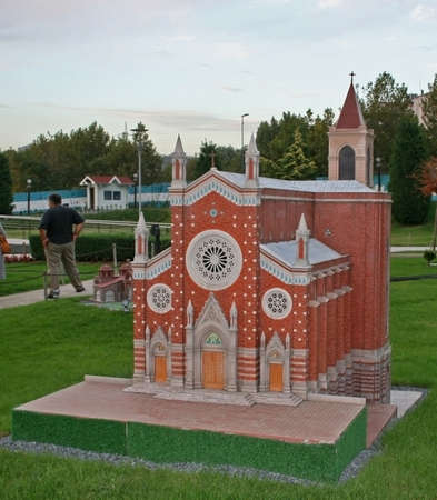 Istanbul,Turkey-October 01,2011:Miniature of St Antuan Church In Miniaturk Editorial