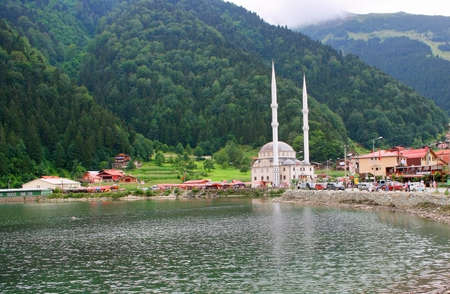 long lake: Trabzon,Turkey-August 20,2011:A view from Uzungol(Longlake)