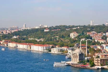 Istanbul,Turkey-October 17,2010: Ortakoy And Feriye Palaces In Bosphorus Editorial