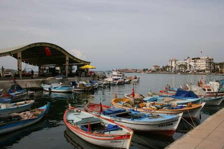 Balıkesir,Turkey-April 23,2010:Customs maritime zone of Ayvalik near Aegean Sea
