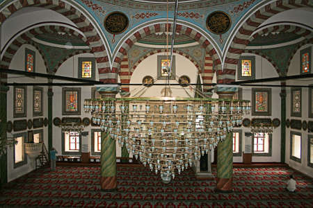 cami: Trabzon,Turkey-August 10,2011:Interiof Of Carsi Mosque in Trabzon