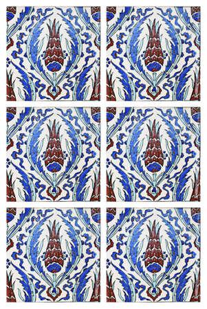 Turkish Wall Tile,Tulip Figure Stock Photo - 11217041