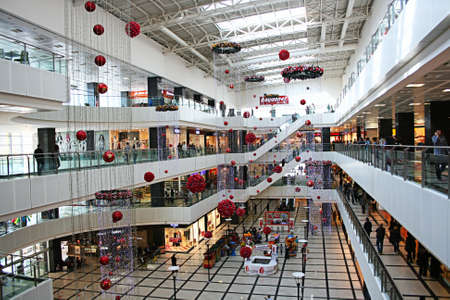Sakarya,Turkey-March 25,2012,Interior of Serdivan Shopping Center in Adapazari