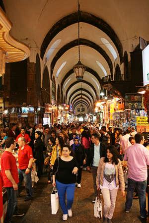 Istanbul,Turkey -April 22,2012:Spice (Egyptian) Bazaar in Eminonu