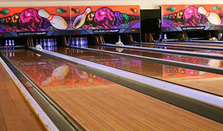 Gebze,Turkey-January 10,2011:Bowling Alley in Shopping Mall(Gebze Center)