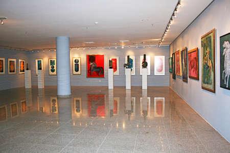 Trabzon,Turkey- July 21,2011:Painting and sculpture exhibition in  Trabzon Tevfik Serdar Culture And Art Center .Trabzon,Turkey Sajtókép