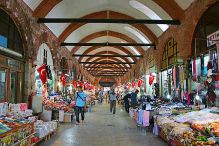 Edirne,Turkey-June 22,2012:Arasta Bazaar In Edirne