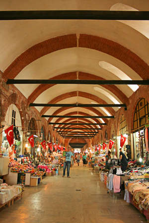 edirne: Edirne,Turkey-June 22,2012:Arasta Bazaar In Edirne