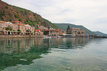 unique characteristics: Assos Ancient Harbour in Canakkale,Turkey