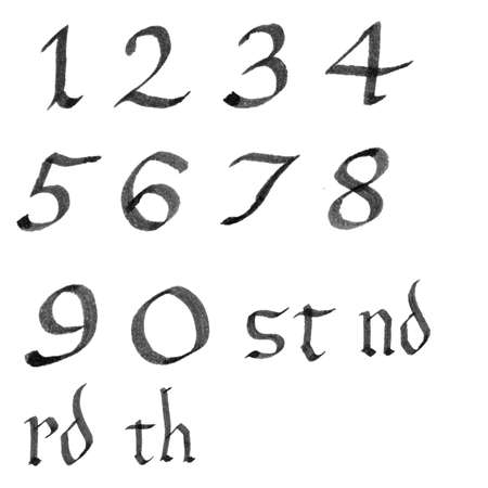 roman alphabet: Numbers Vectorial Set Illustration