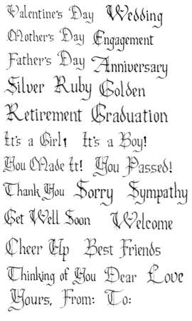 Words For Special Days and etc..Vector Set Vector
