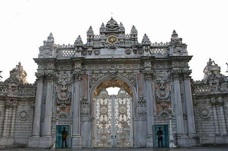 Istanbul,Turkey-December 7,2012: Gate of Dolmabahce Palace Stock Photo - 16860403