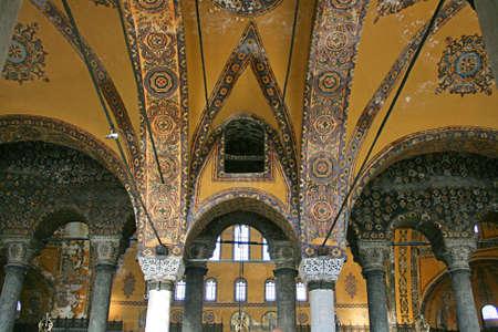 Istanbul,Turkey-December 7,2012:Interior of Hagia Sophia Museum Stock Photo - 16837309