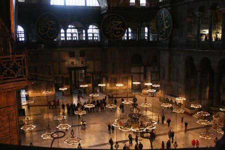 Istanbul,Turkey-December 30,2012:Interior of Hagia Sophia Museum Stock Photo - 17437193