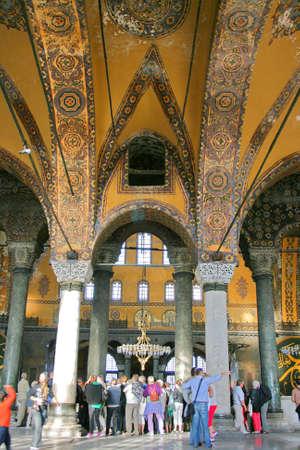 Istanbul,Turkey-December 7,2012:Interior of Hagia Sophia Museum Stock Photo - 17464980