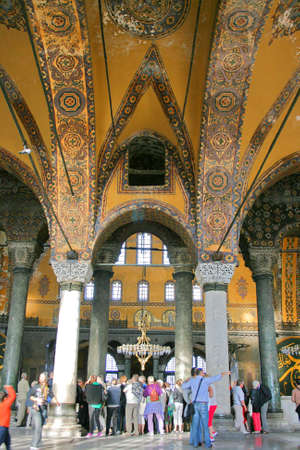Istanbul,Turkey-December 7,2012:Interior of Hagia Sophia Museum Stock Photo - 17464980