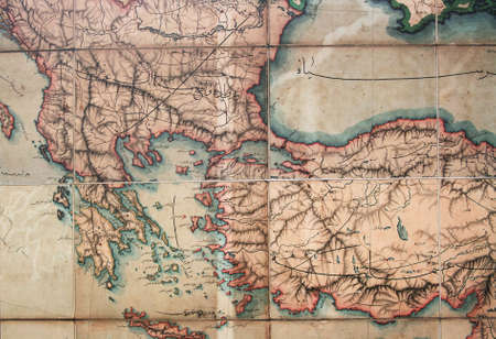 Turkey Map,Ottoman Empire Era photo