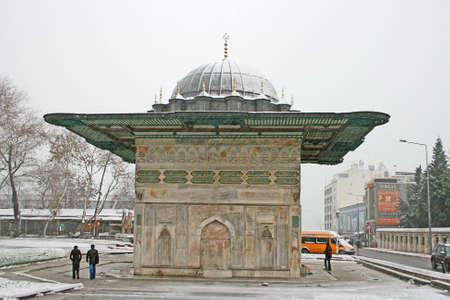 topkapi: Istanbul,Turkey-January 20,2013: Ottoman Fountain