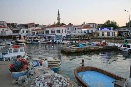 Bozcaada,Turkey-October 07,2012: Port of Bozcaada