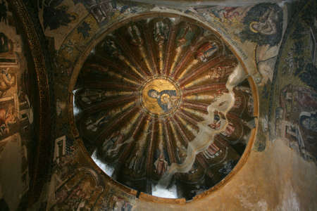 Istanbul,Turkey-June 08,2013:Mosaic of the Virgin Mother with child in Chora Museum Stock Photo - 20289670