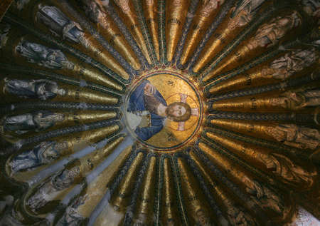 Istanbul,Turkey-June 08,2013:Mosaic of Christ Pantocrator in Chora Museum Stock Photo - 20289652