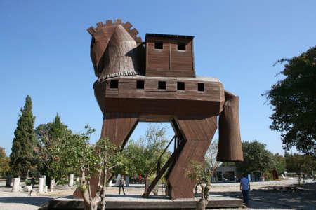 cavallo di troia: Canakkale, Turchia-ottobre 08,2012: cavallo di Troia a Troia Ancient City Editoriali